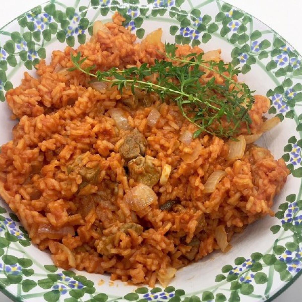 Ezen a képen: Paradicsomos rizses hús Pogácsa konyhájából