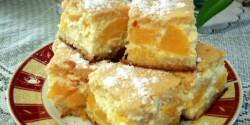 Túrós-barackos pite
