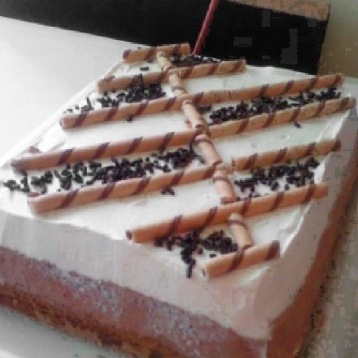 Ezen a képen: Habos csokis sütemény