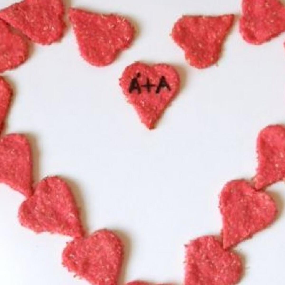 Ezen a képen: Citromos szívkeksz