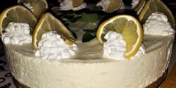 Üdítő citromtorta sütés nélkül