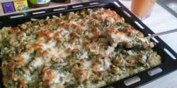 Gazdag zöldséges-húsos rakott tészta