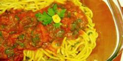 Szardíniás-paradicsomos spagetti