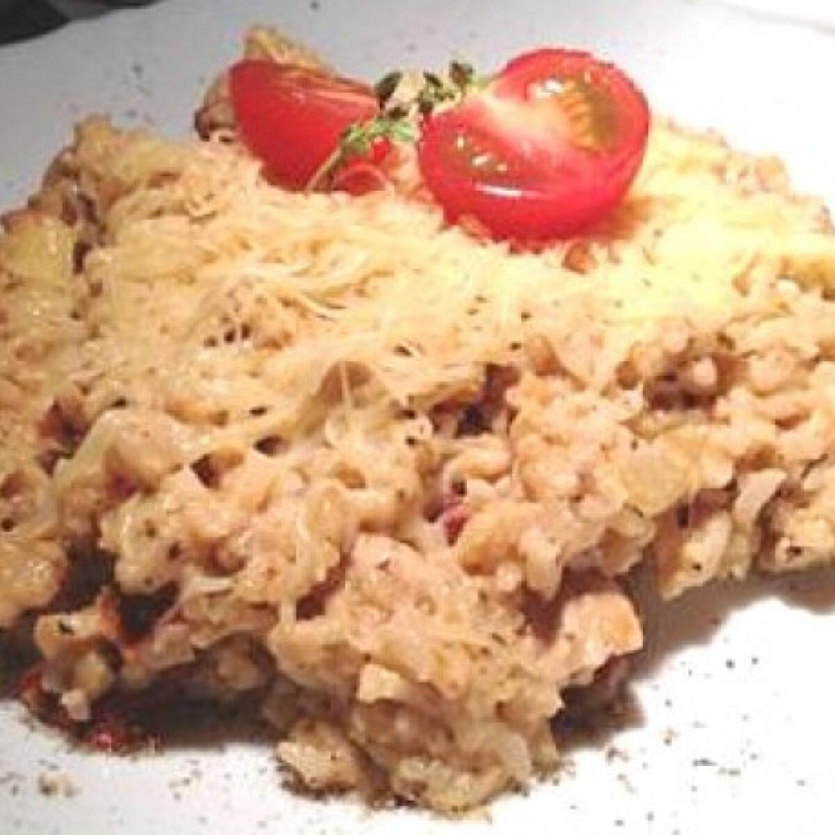 Gyors tejszínes-csirkés rizs