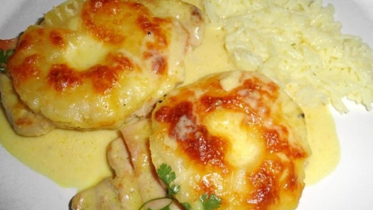 Currys-tejszínes mártásban sült sertéskaraj