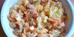 Őszi szőlős-sütőtökös saláta