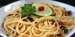 Chilis-rákos spagetti