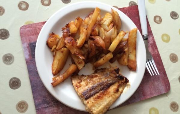 Mustáros lazac marmités krumplival