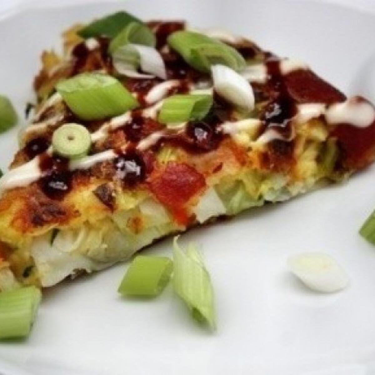 Ezen a képen: Okonomiyaki - japán pizza