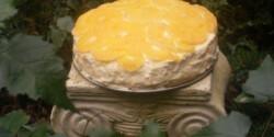 Isteni tejszínes narancstorta