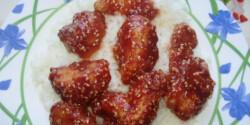 Szezámmagos-mézes csirkefalatok