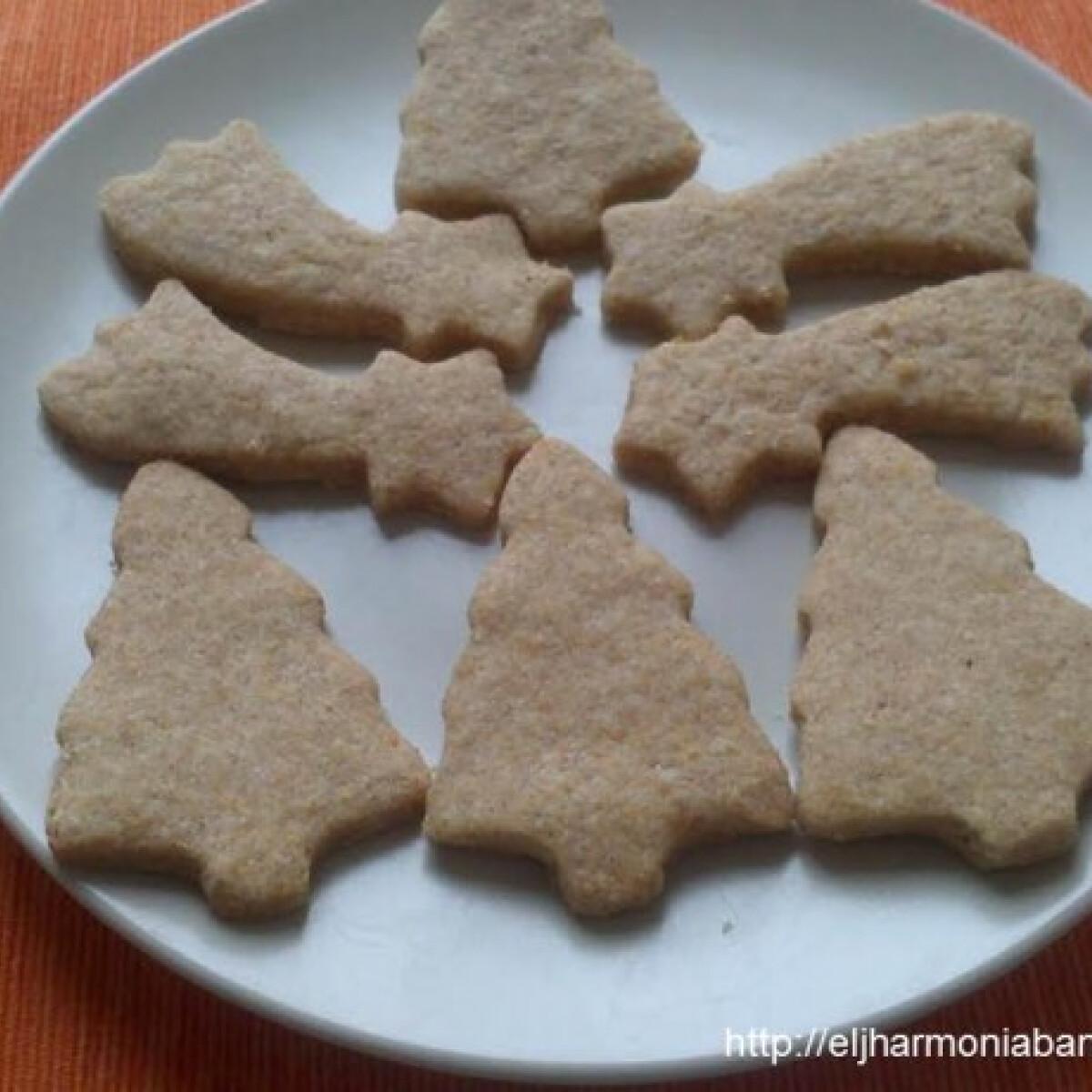 Ezen a képen: Karácsonyi keksz - teljes kiőrlésű lisztből