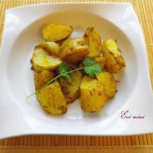 Sütőben sült indiai krumpli