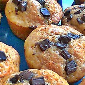 Sütőtökös muffin csokidarabkákkal