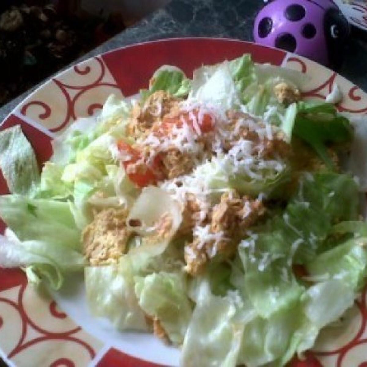Ezen a képen: Tonhalas rántotta 2. - salátával