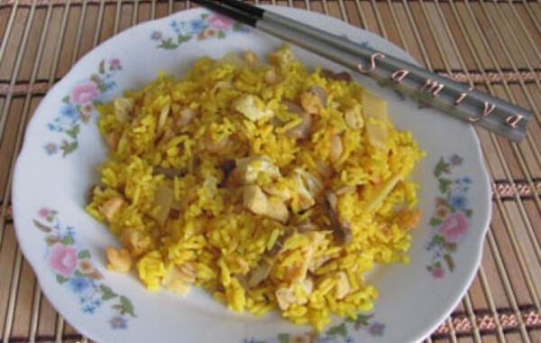 Garnélás sült rizs