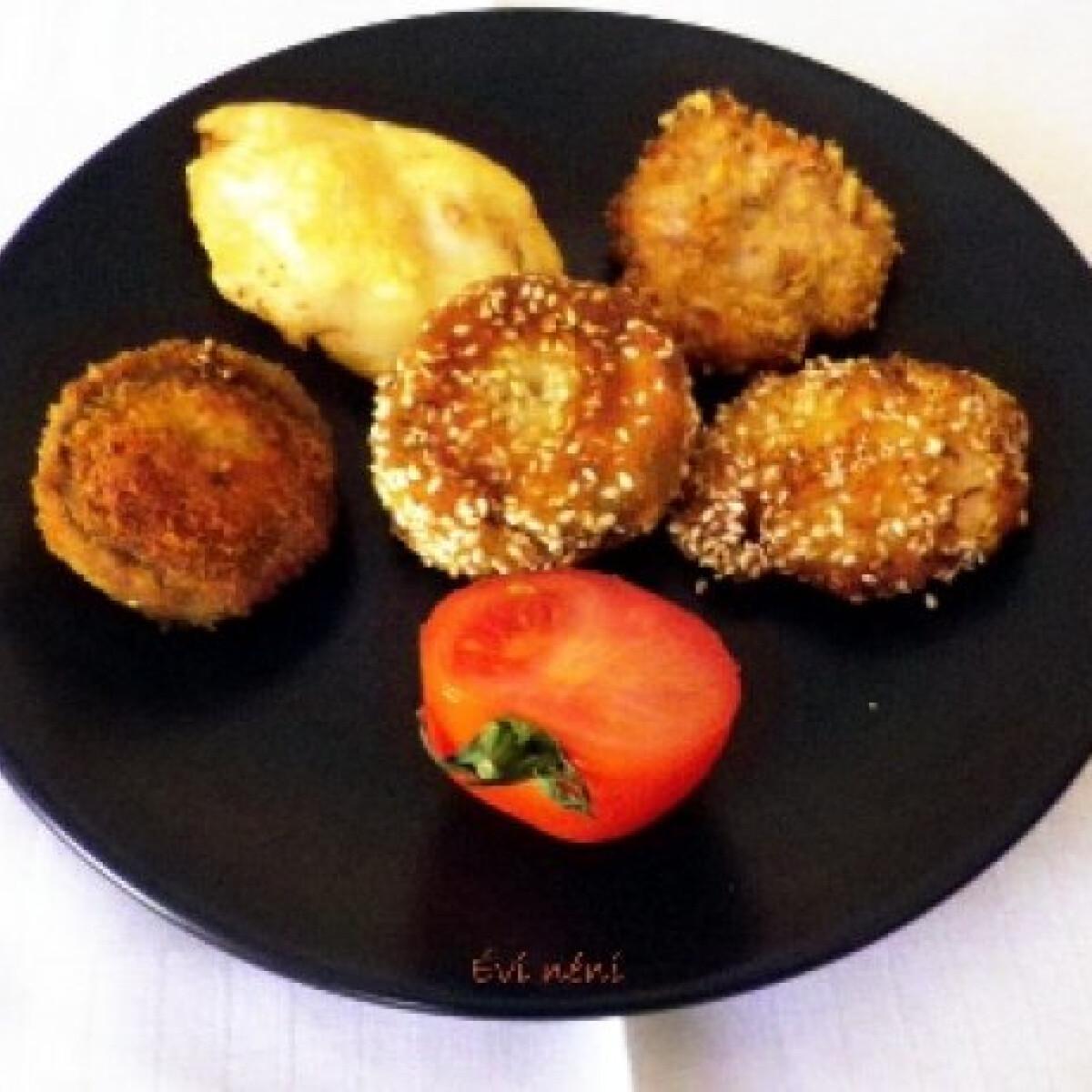 Ezen a képen: Tojás nélküli és tojásos rántott hús variációk