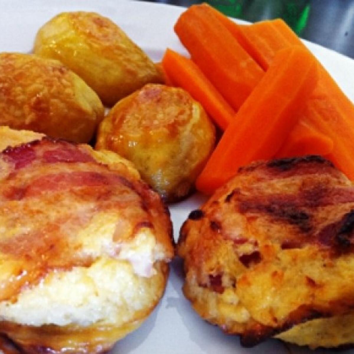 Ezen a képen: Tejszínes-sajtos csirkemell muffin tepsiben