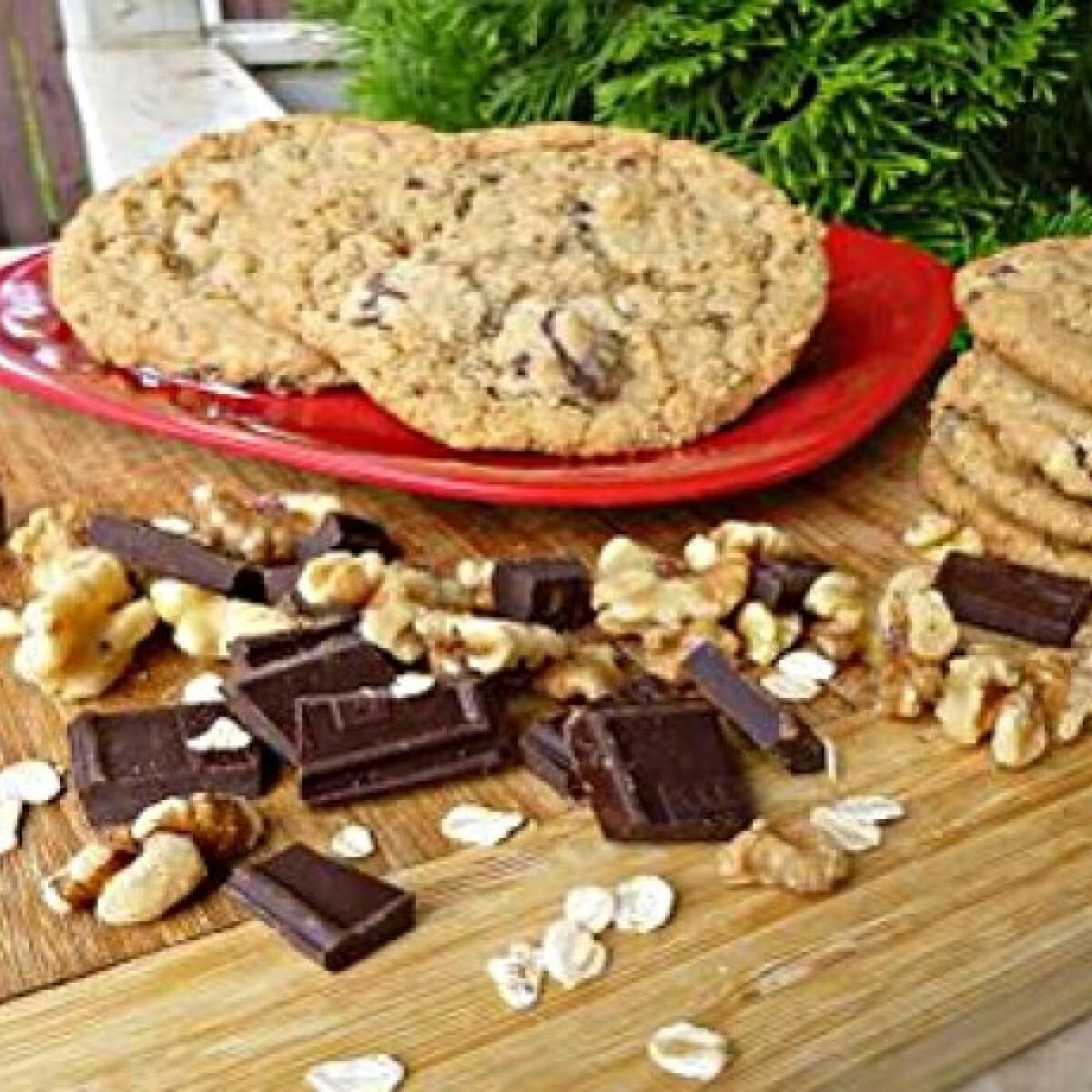 Ezen a képen: Csokis zabkeksz witch konyhájából