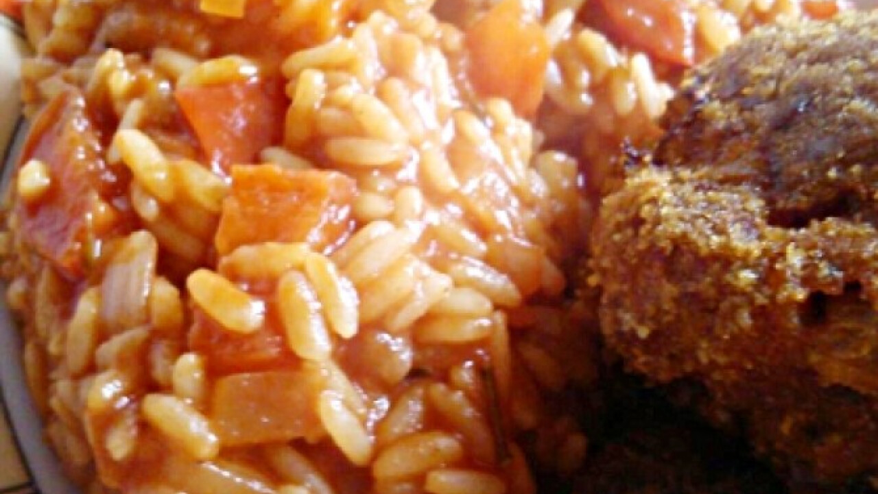 Paradicsomos-paprikás rizs