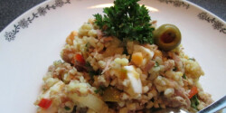 Bulgursaláta tonhallal és tojással
