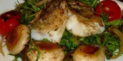Fogasfilé langyos salátaágyon