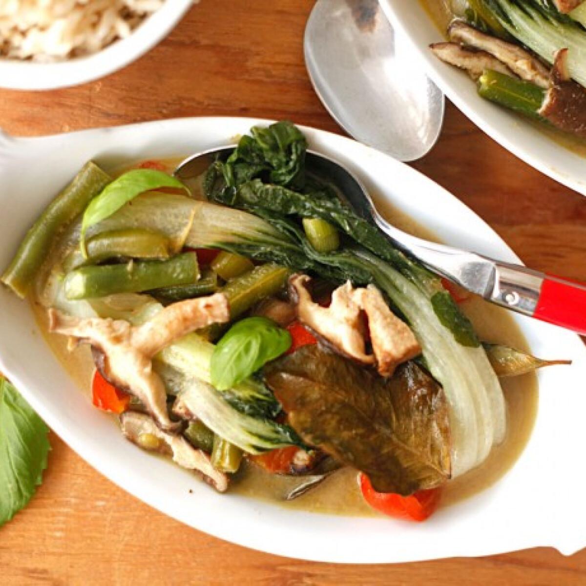 Gyors thai zöldségcurry