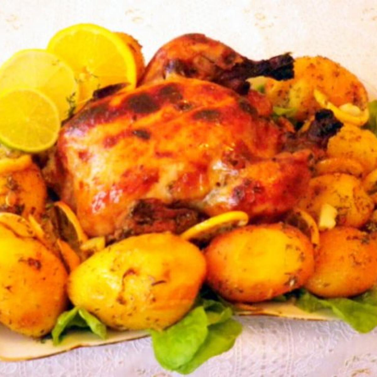 Ezen a képen: Tequilás csirke citromos burgonyával