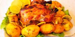 Tequilás csirke citromos burgonyával