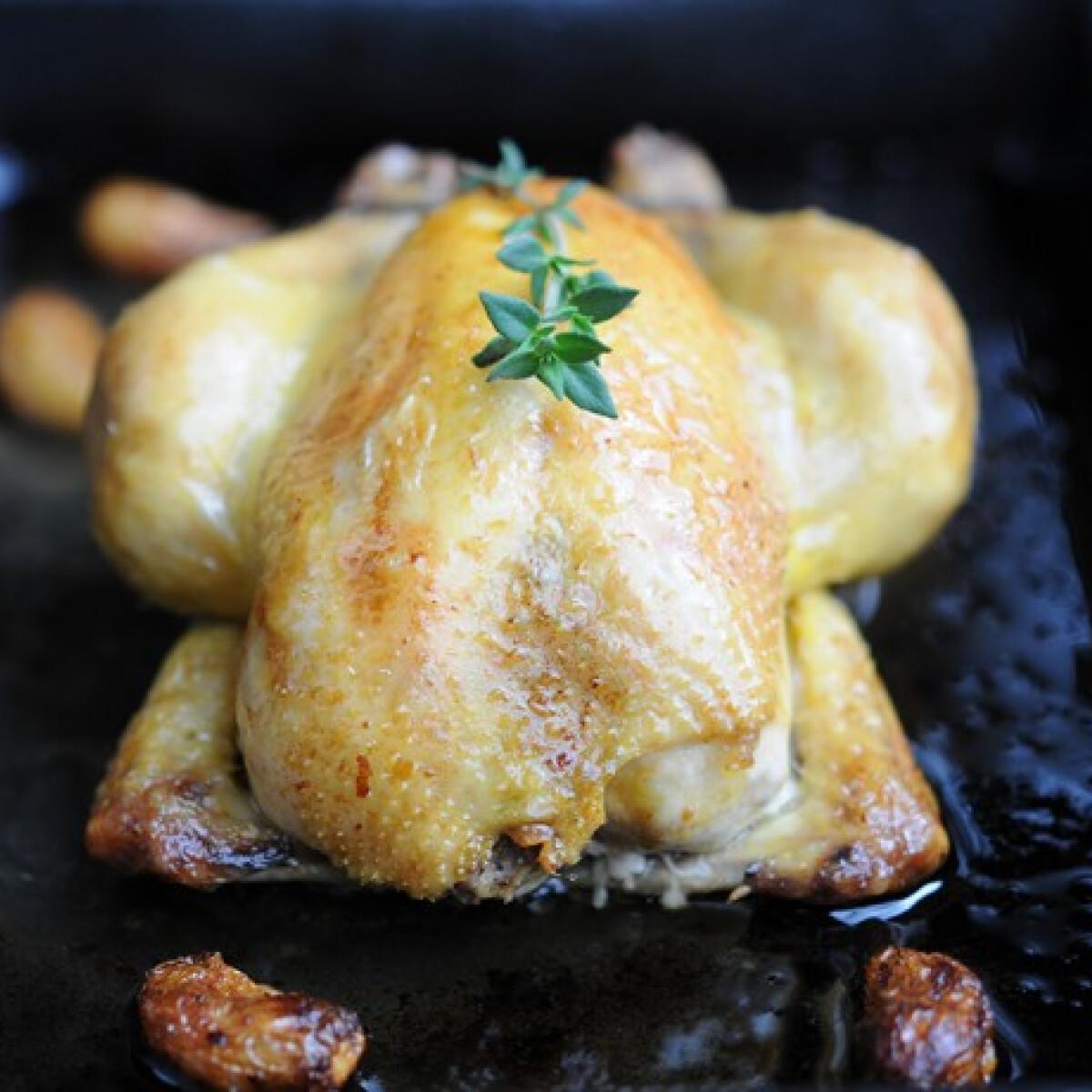 Illatos, sült bébi csirke