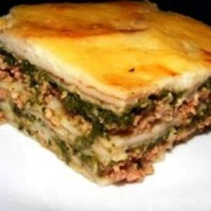 Spenótos lasagne 4. - darált húsos