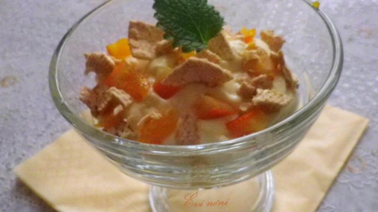 Narancsos-mascarponés reggeli