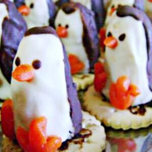 Pingvinek kakaós krémmel töltve