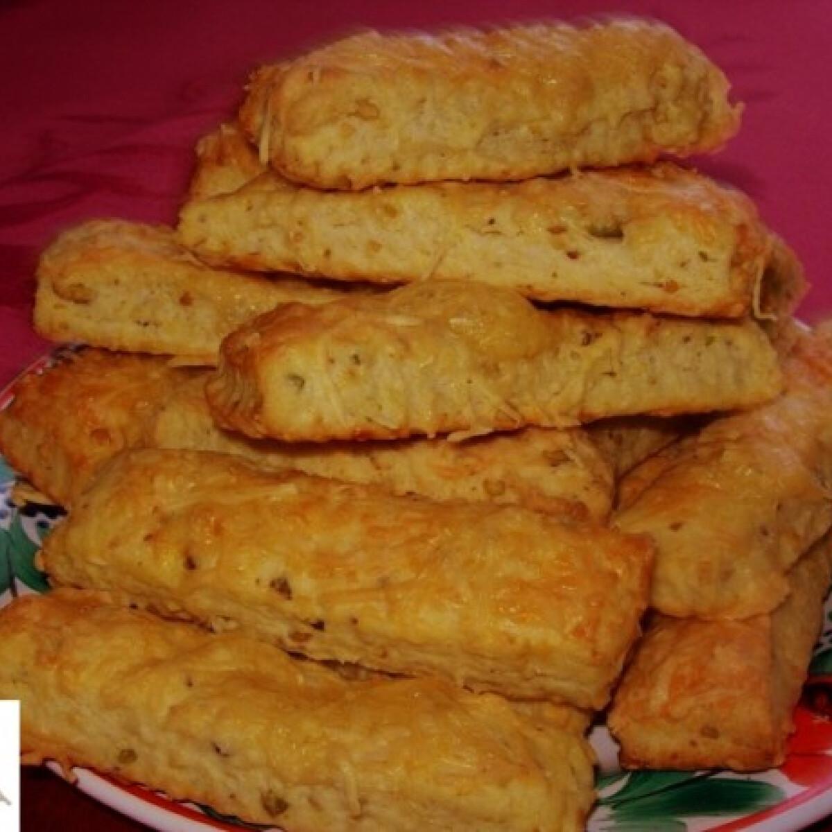 Pisztáciás-sajtos sós rudak