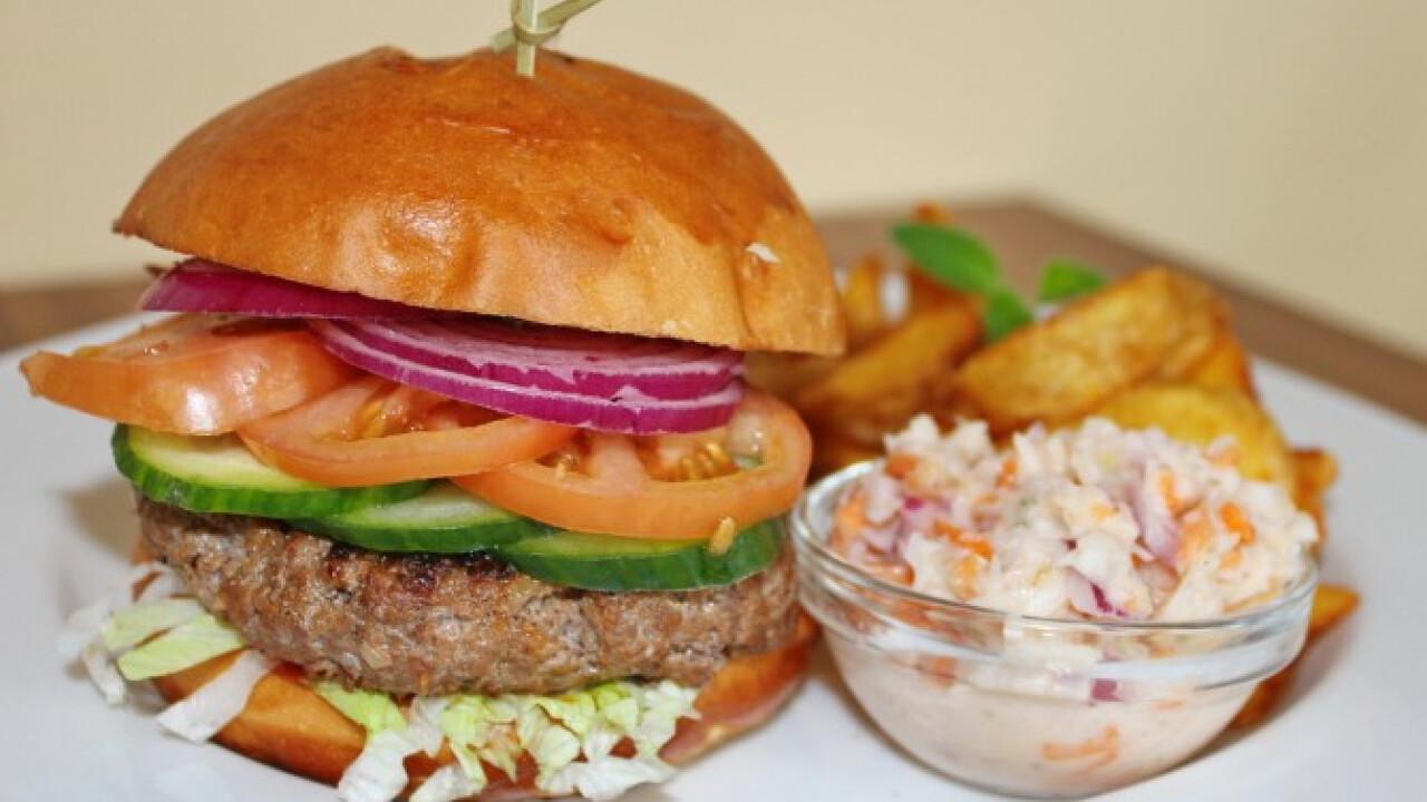 Retro hamburger