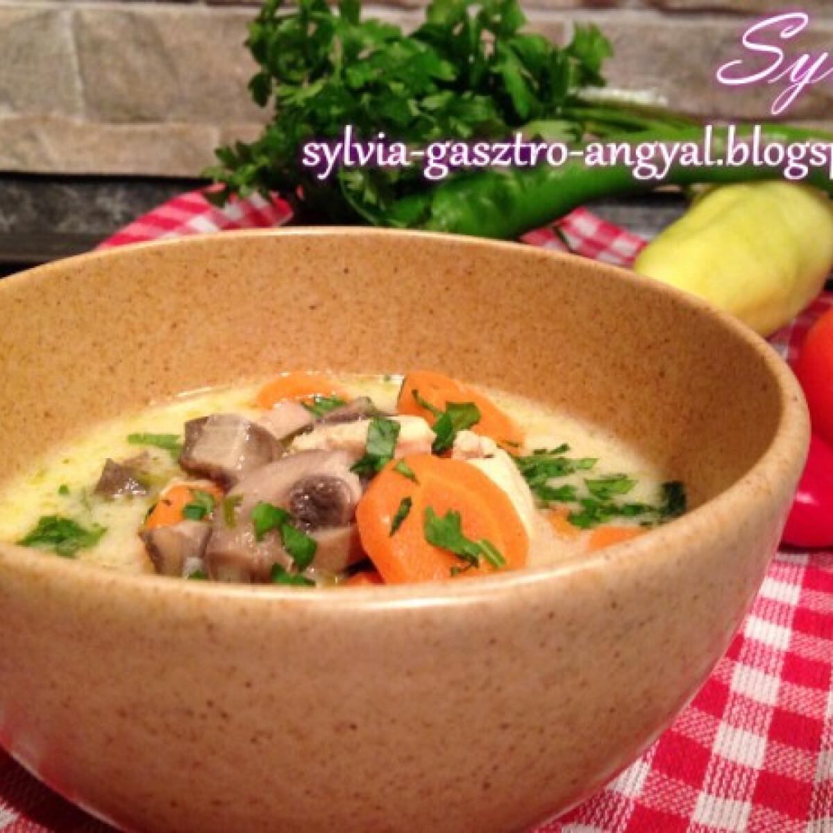 Ezen a képen: Legényfogó leves Sylvia Gasztro Angyal konyhájából