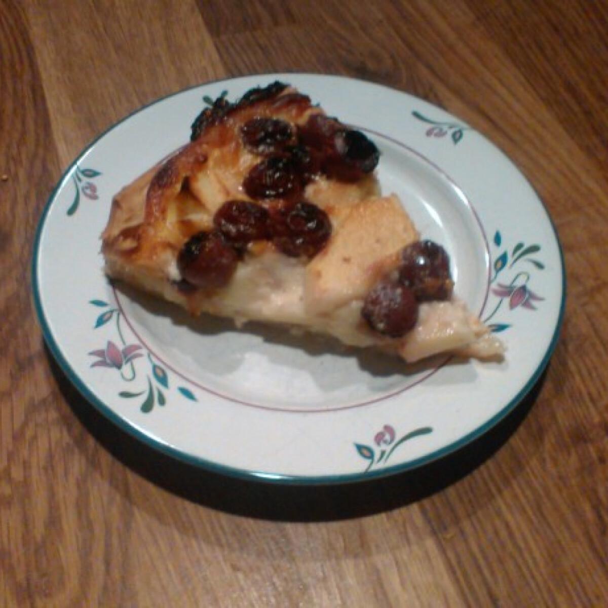 Gyors almás-cseresznyés torta