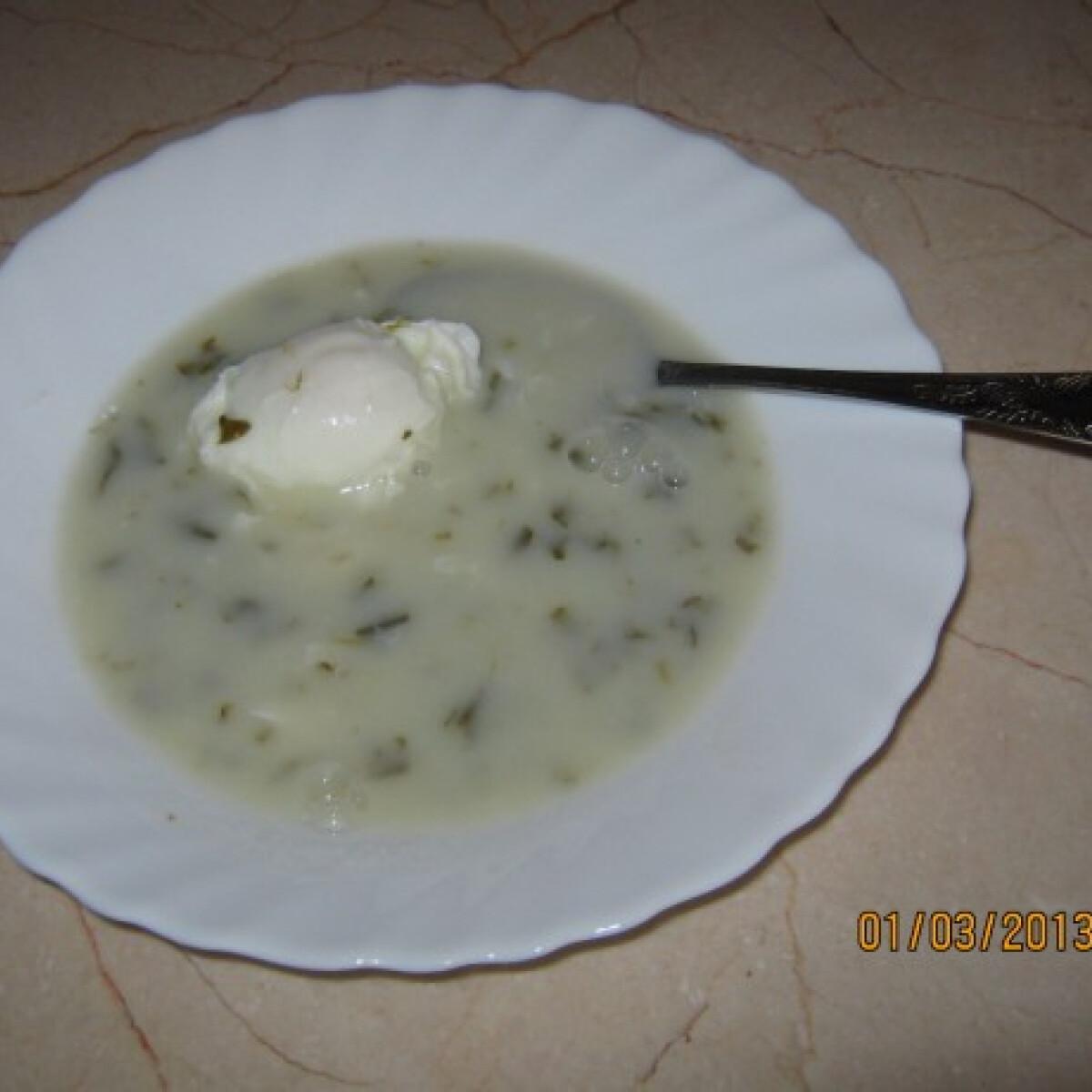 Ezen a képen: Sóskaleves tojással