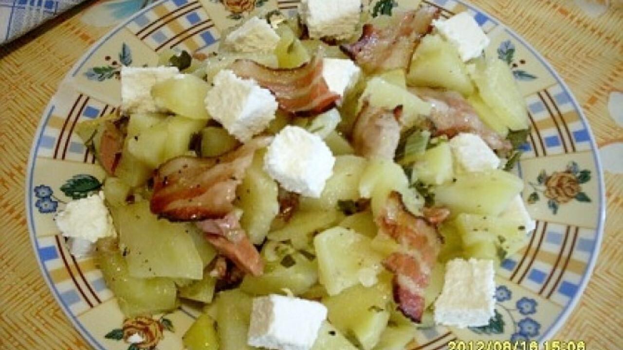 Padlizsános-baconös burgonya