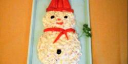 Párizsi salátás hóember
