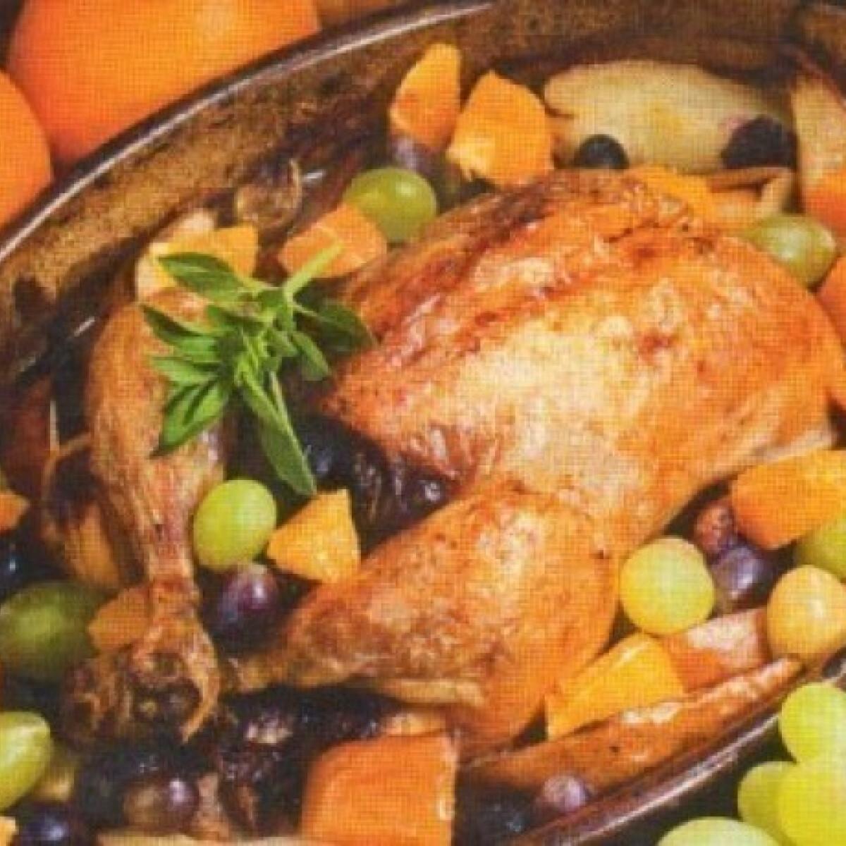Ezen a képen: Mediterrán töltött csirke
