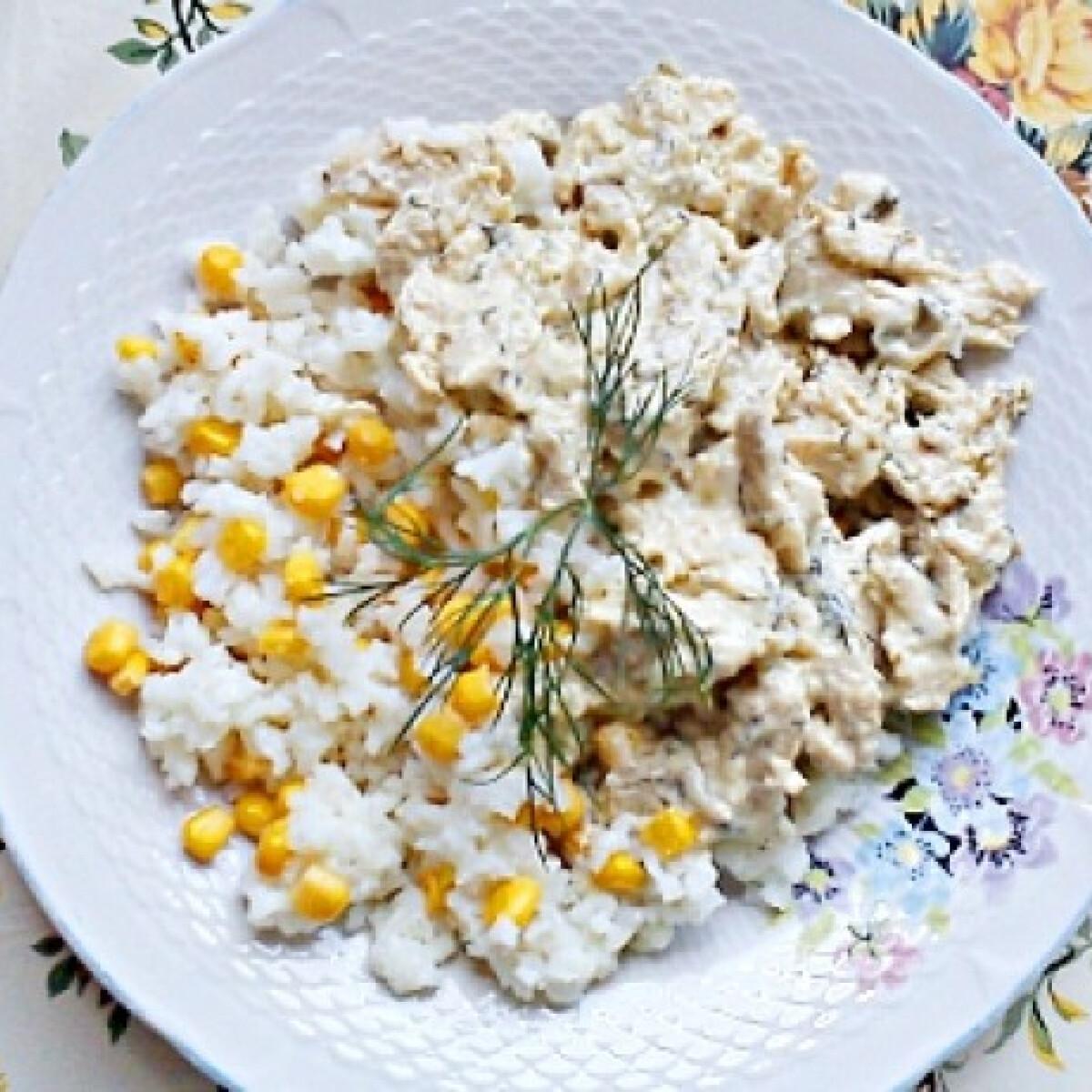 Ezen a képen: Kapros csirkeragu kukoricás rizzsel