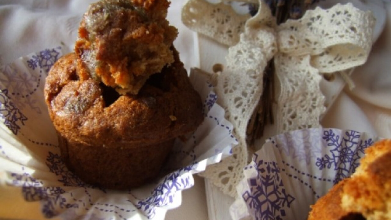 Levendulás muffin