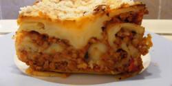 Lasagne vegán bolognai szósszal