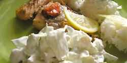 Borsos lazac majonézes jégsalátával