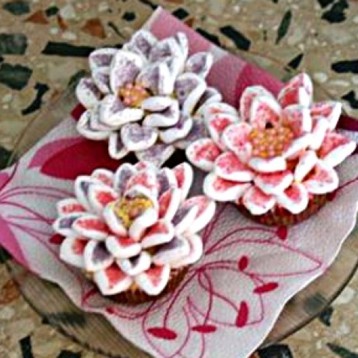 Cupcake virág
