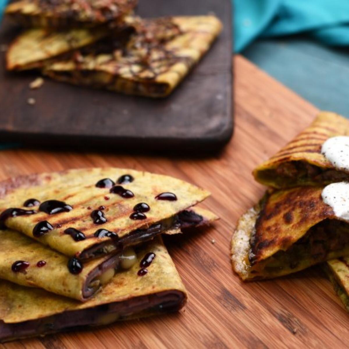 Ezen a képen: Gyors quesadilla háromféleképpen