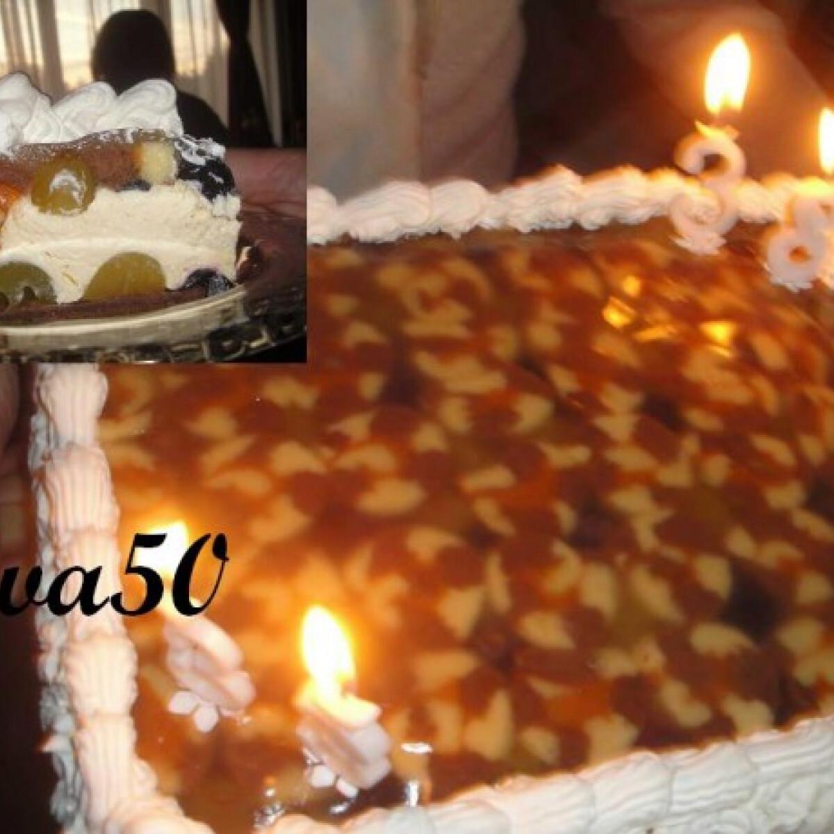 Szőlőkrémes charlotte torta