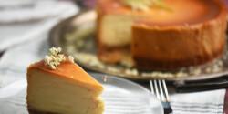 Fehércsokis sajttorta bodzával