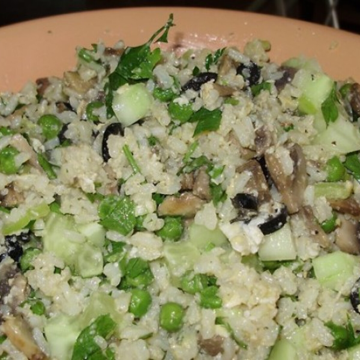 Gombás rizssaláta Verától